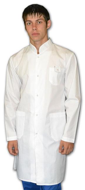 Халат Модельный мужской Цвет: белый.
